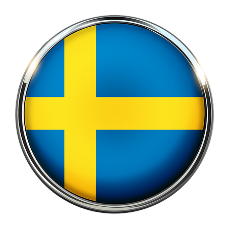 Swedish flag for changing language